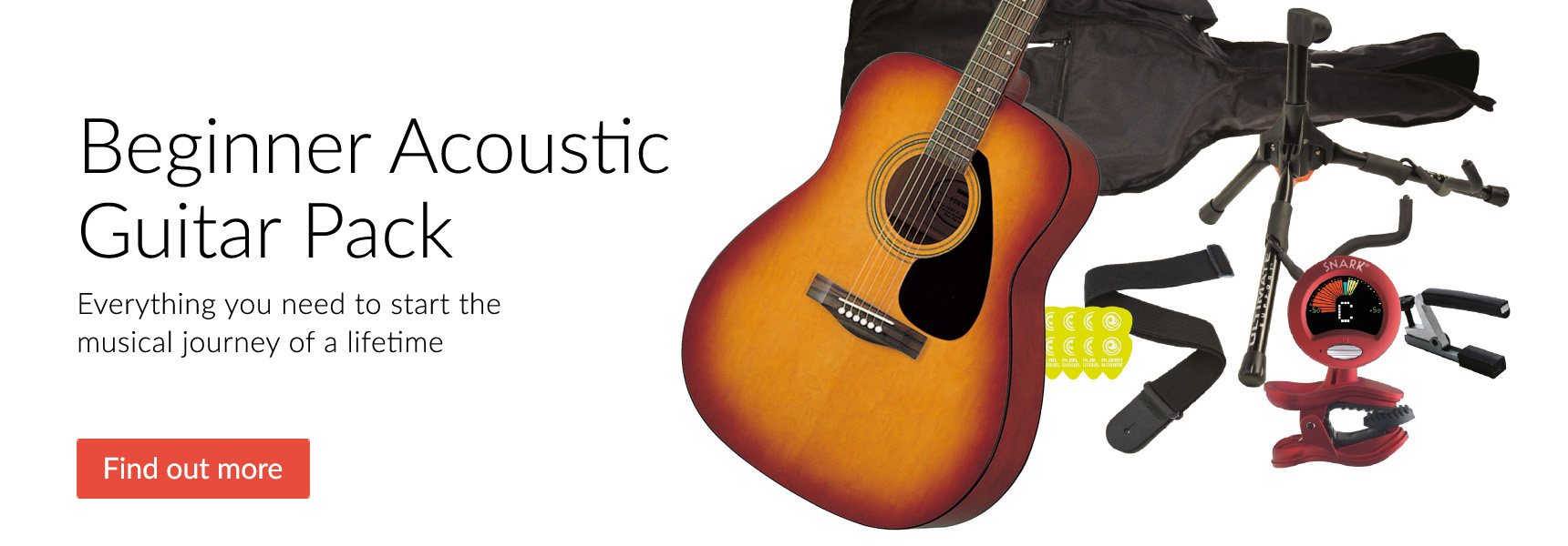 Yamaha F310 Acoustic Guitar Beginners' Pack - Click here