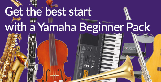 Give them the best start with a Yamaha Beginner Pack