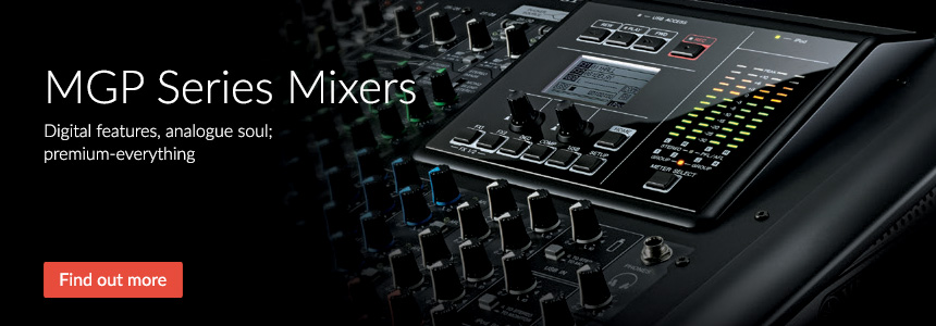 MGP Series Mixers - Digital features, analogue soul; premium-everything
