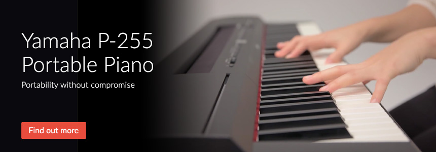 Yamaha P-255 Portable Piano - Portability without compromise