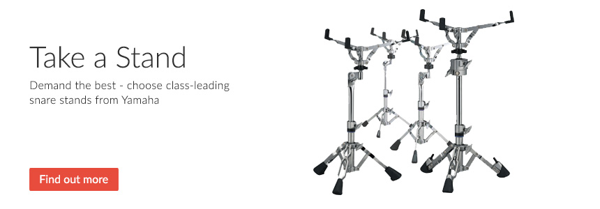 Take a stand - class-leading snare stands from Yamaha