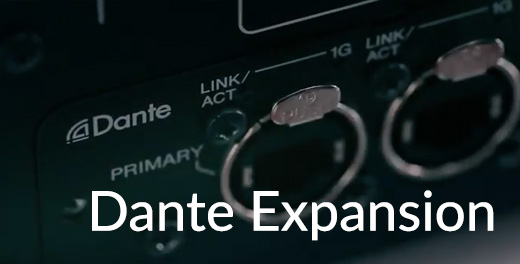 Dante Expansion with the Tio1608-D
