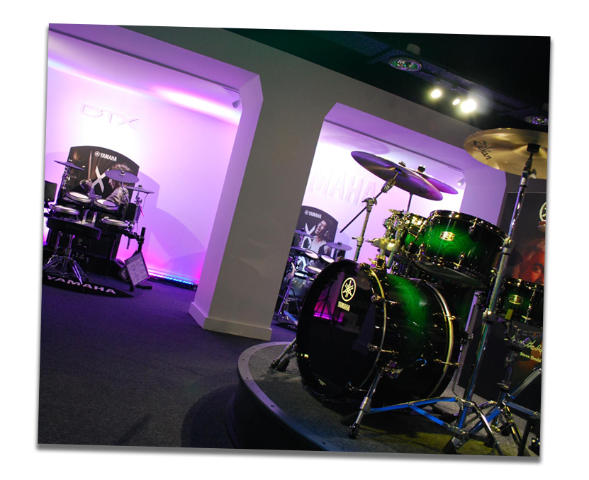 Yamaha acoustic and electronic drum kits