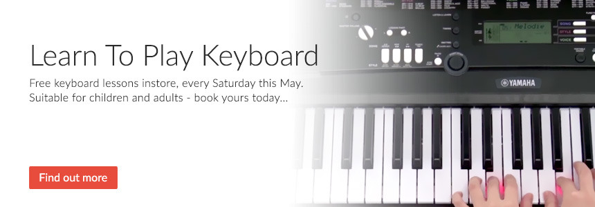 Learn To Play Keyboard - Free keyboard lessons every Saturday this May - suitable for children and adults, book yours today...