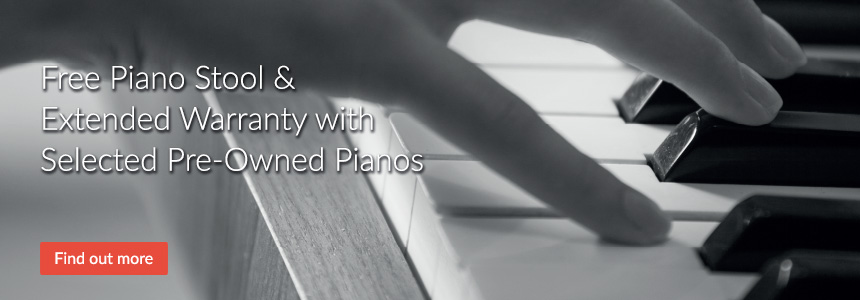 Free Piano Stool & Extended Warranty with Selected Pre-Owned Pianos