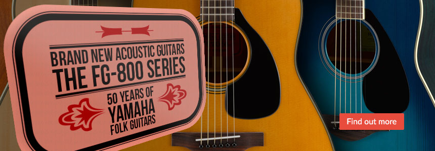 Brand New FG800 Series Guitars, Celebrating 50 years of Yamaha Folk Guitars - Click here...