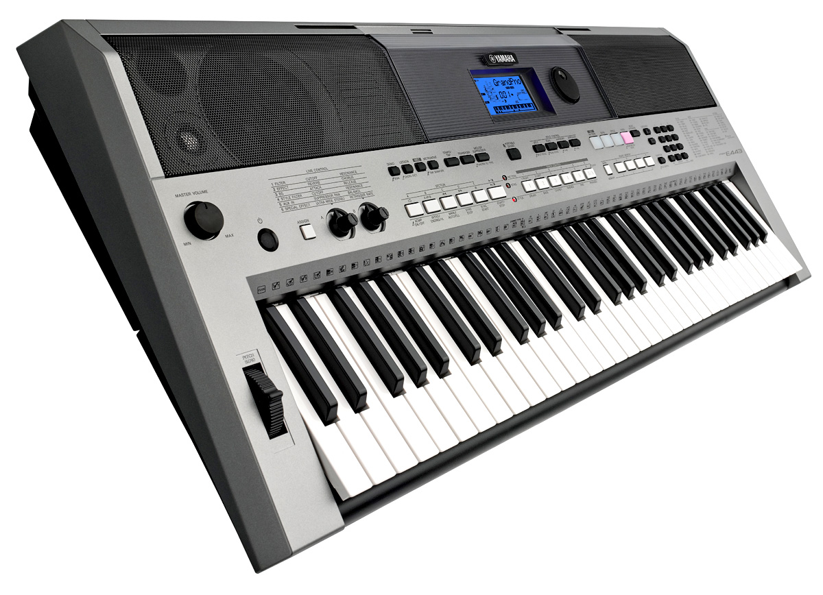 yamaha psr e443 touch sensitive portable keyboard yamaha music london formerly chappell of. Black Bedroom Furniture Sets. Home Design Ideas