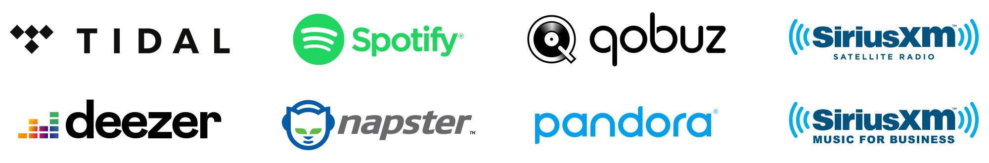 Stream Tidal, Deezer, Qobuz, Spotify, Pandora, Napster and Sirius from within the MusicCast app