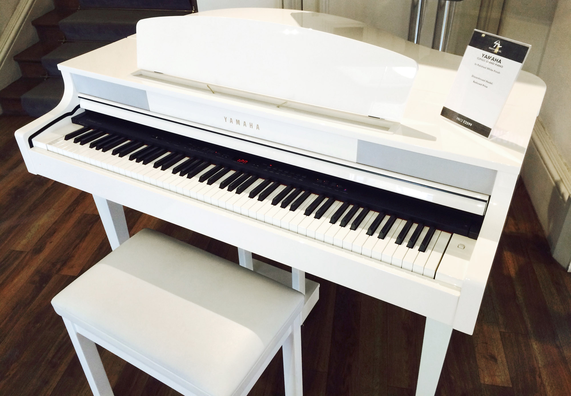 Yamaha ex display clp 465gp clavinova digital piano in for White yamaha piano
