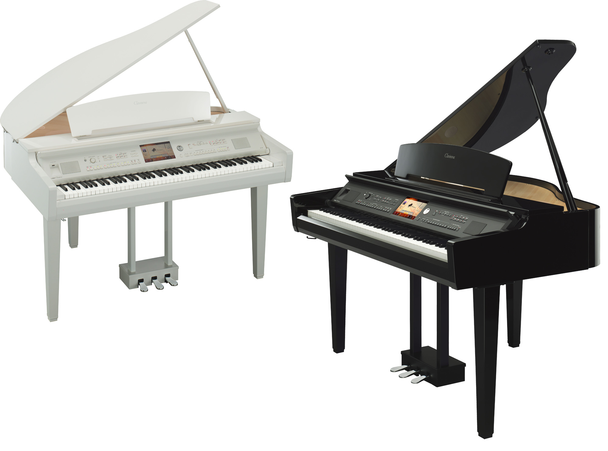 Yamaha cvp 709gp clavinova digital grand pianos in for White yamaha piano
