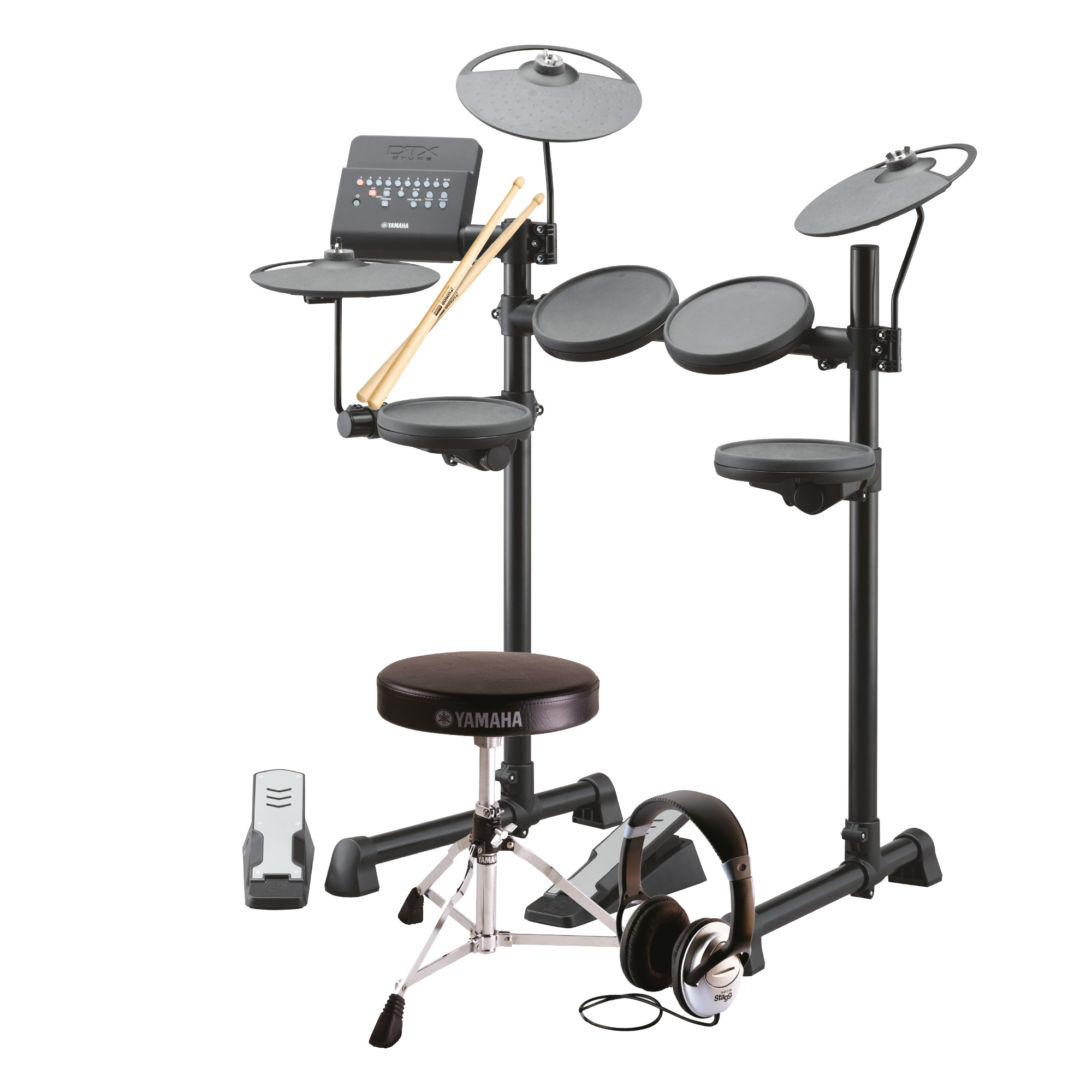 Yamaha beginner dtx400k electronic drum pack with for Yamaha dtx400k accessories