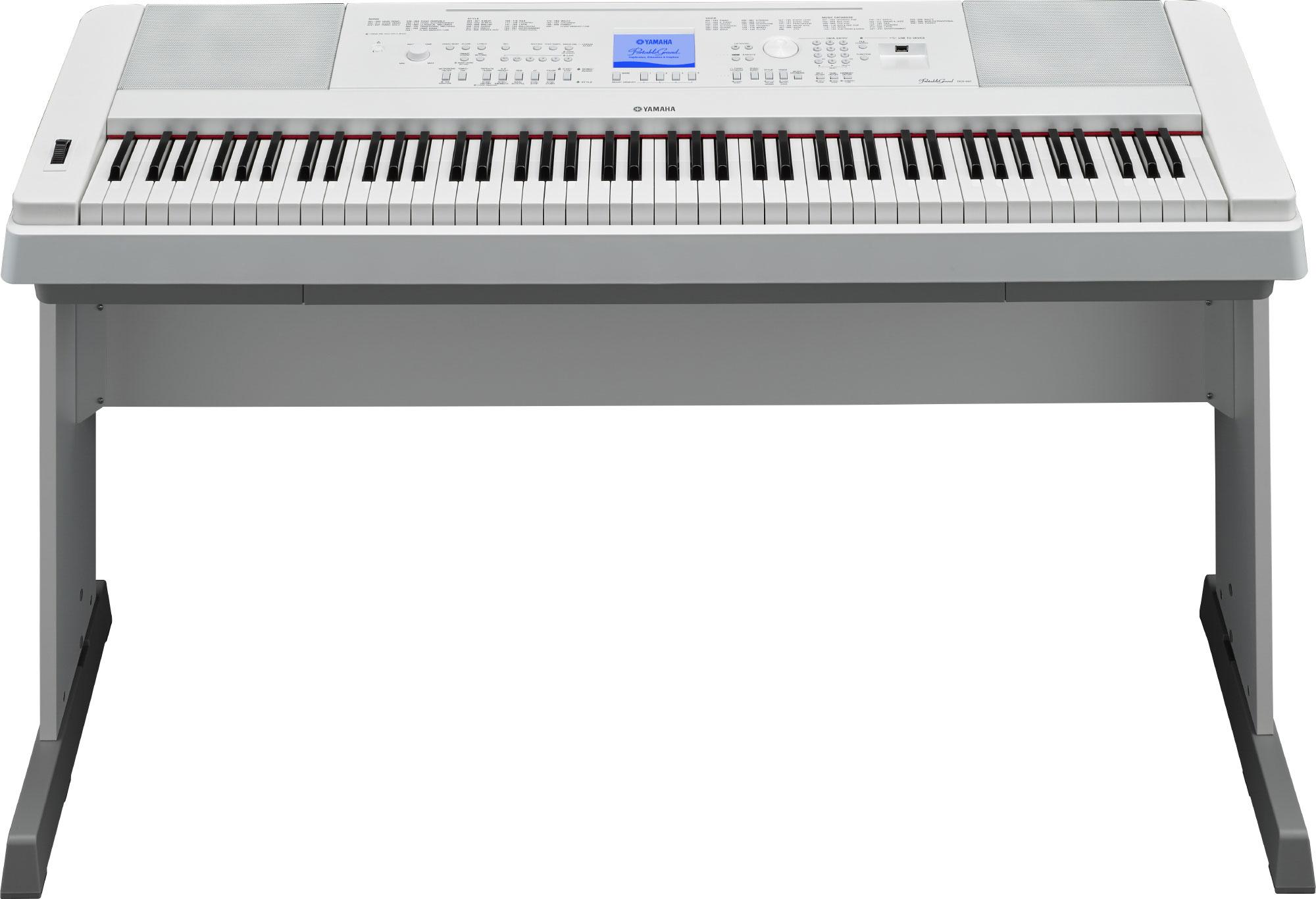 yamaha dgx 660 digital piano in white finish yamaha