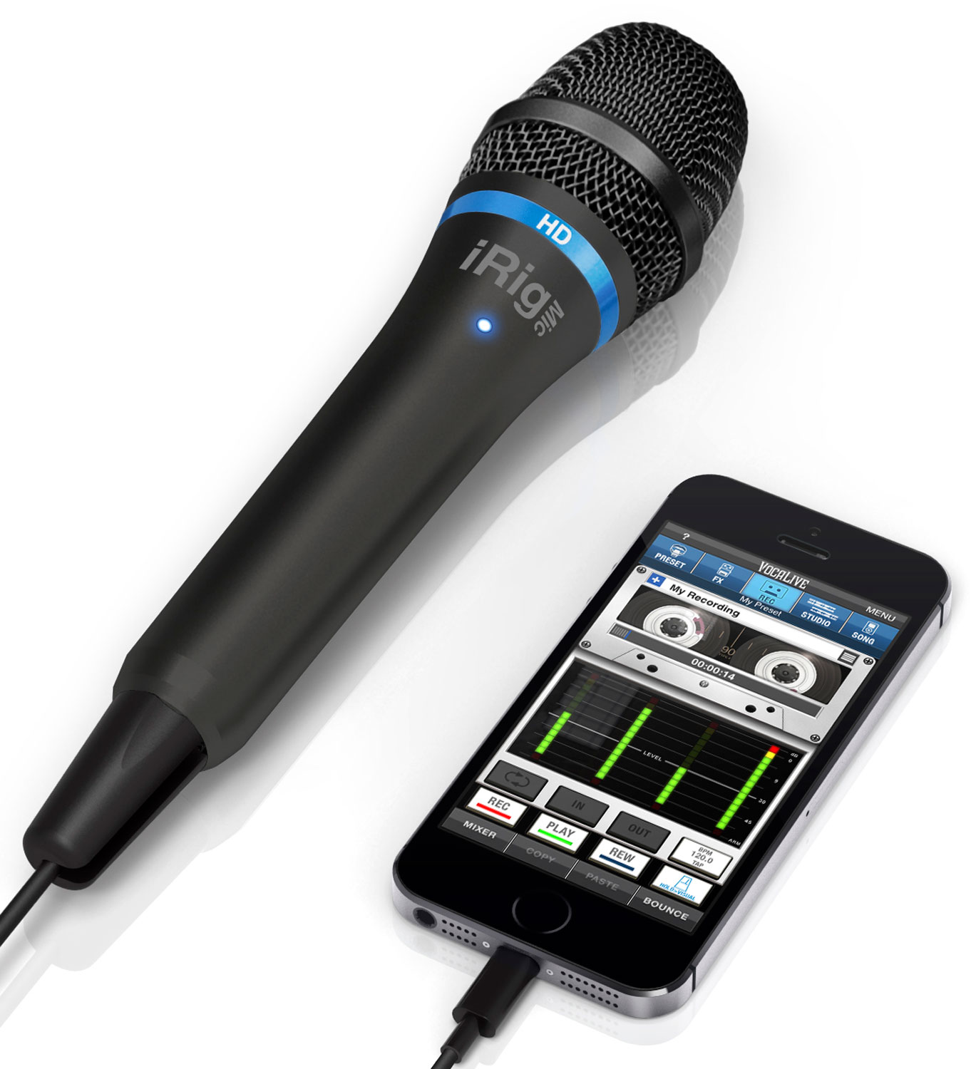 mono audio iphone ik multimedia irig mic hd digital microphone black 12645
