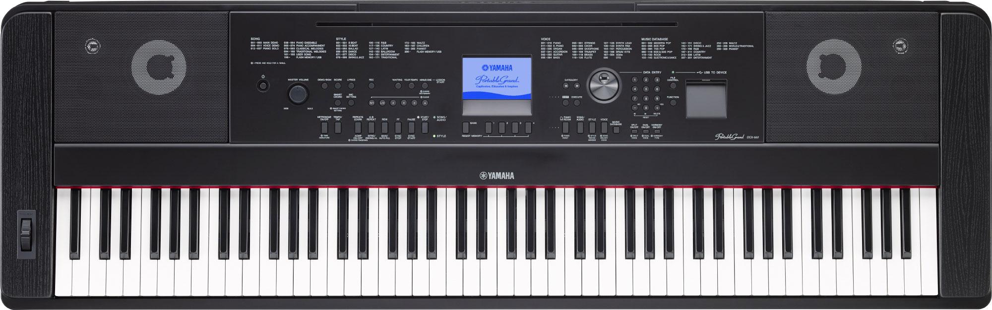 yamaha dgx 660 digital piano in black finish with stand yamaha music london. Black Bedroom Furniture Sets. Home Design Ideas