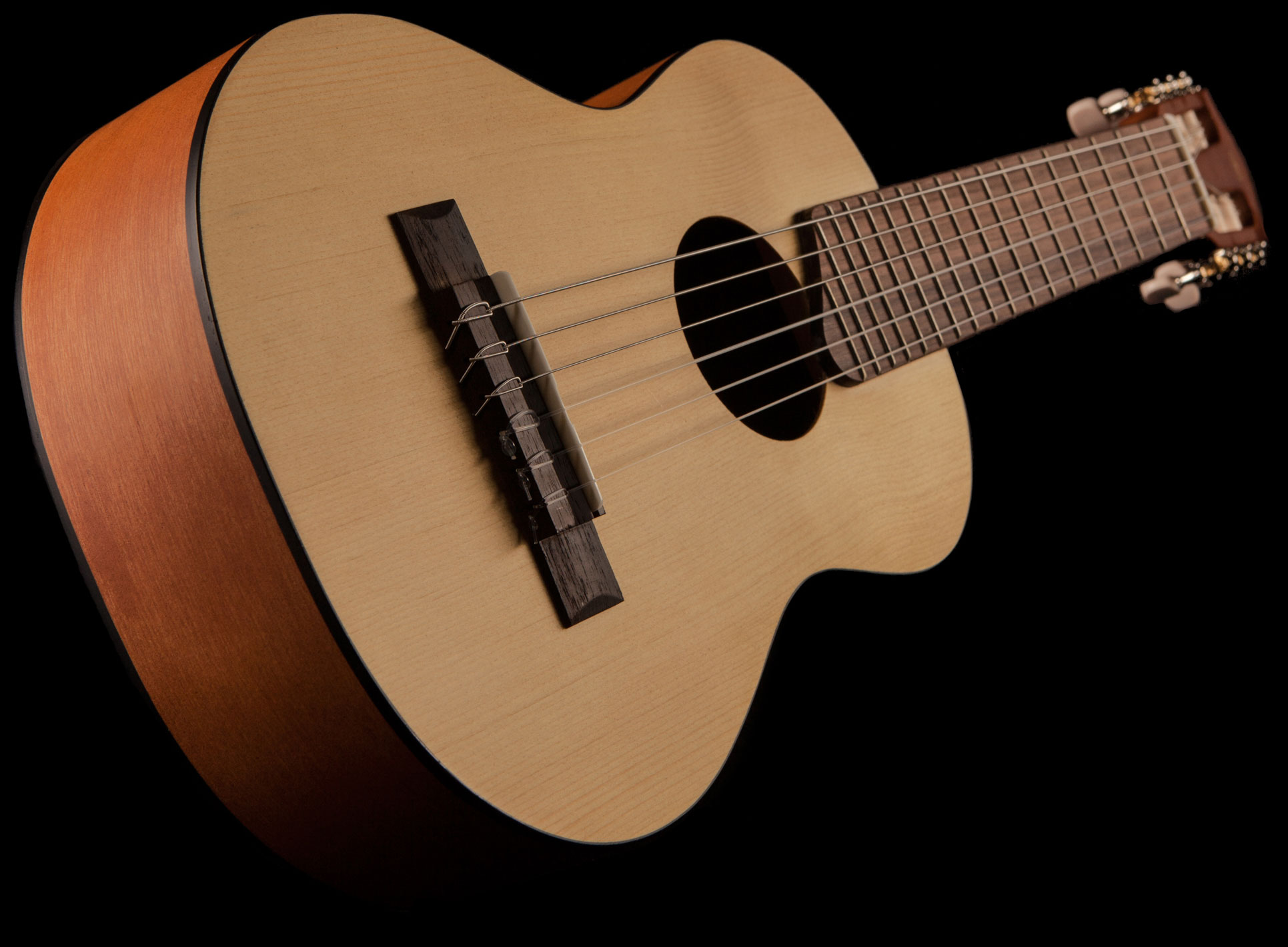 Yamaha Gl1 Guitalele Micro Guitar In Natural Wood Finish