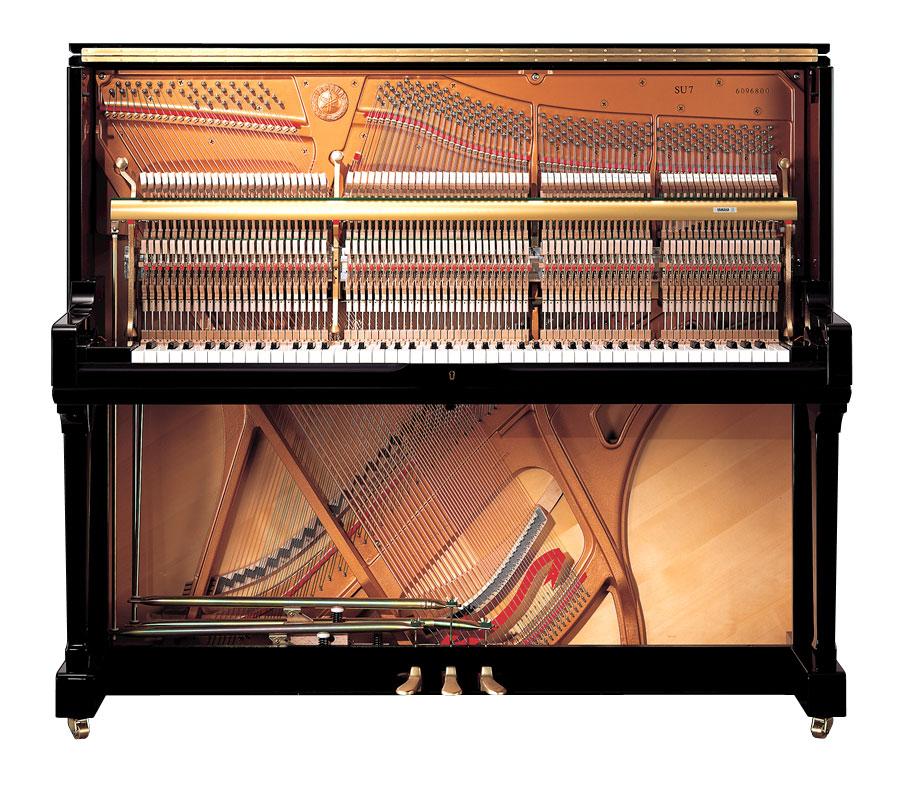 Yamaha su7 silent sh piano in polished ebony finish for Yamaha acoustic pianos