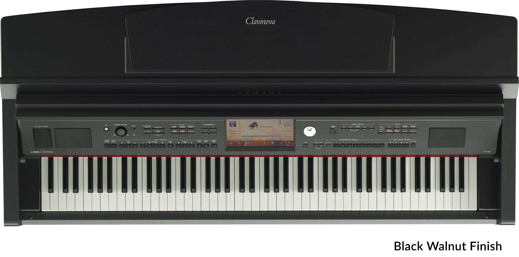 yamaha cvp 709 clavinova digital pianos in polished ebony polished white and black walnut. Black Bedroom Furniture Sets. Home Design Ideas