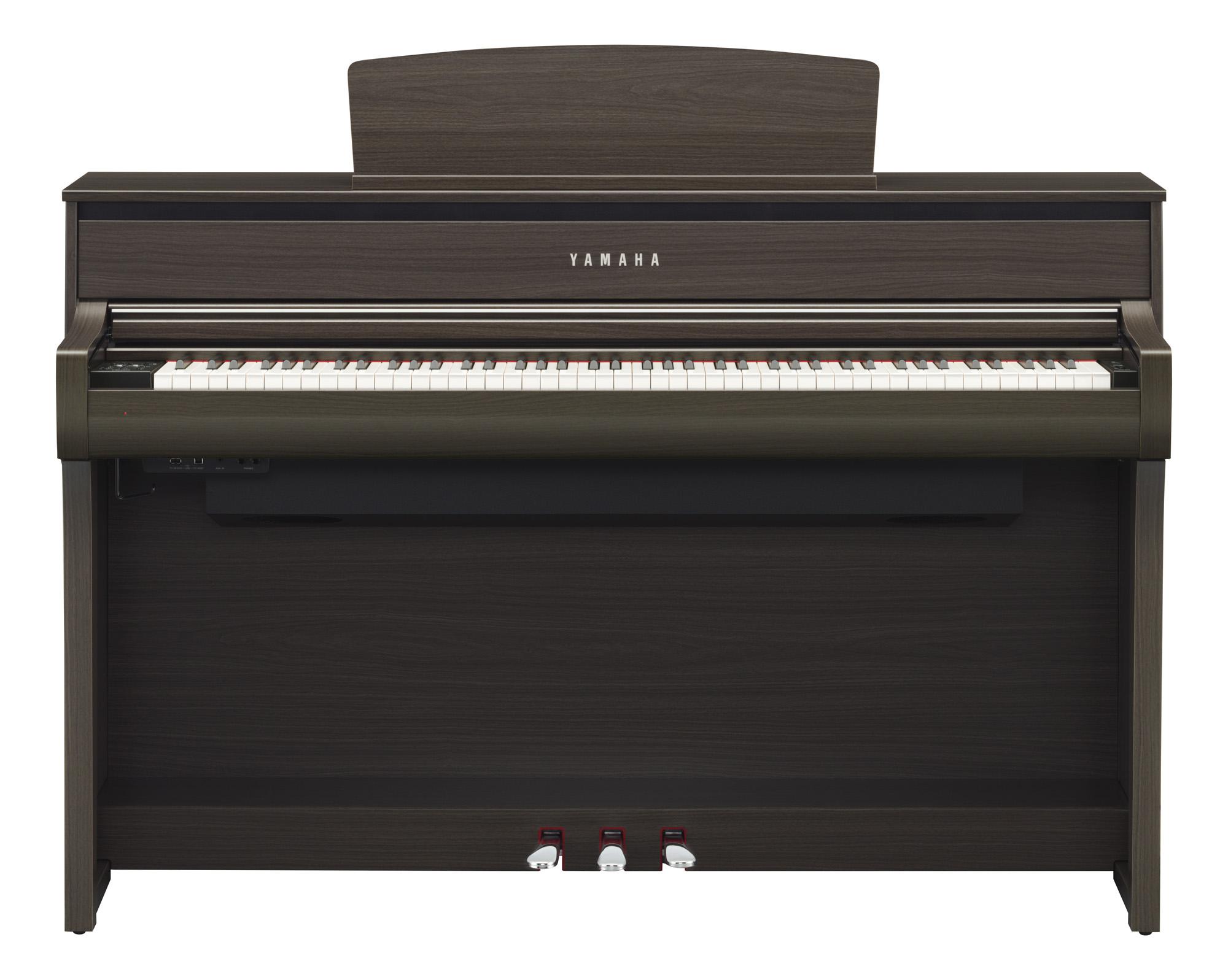 yamaha clp 675 clavinova digital piano in dark walnut. Black Bedroom Furniture Sets. Home Design Ideas