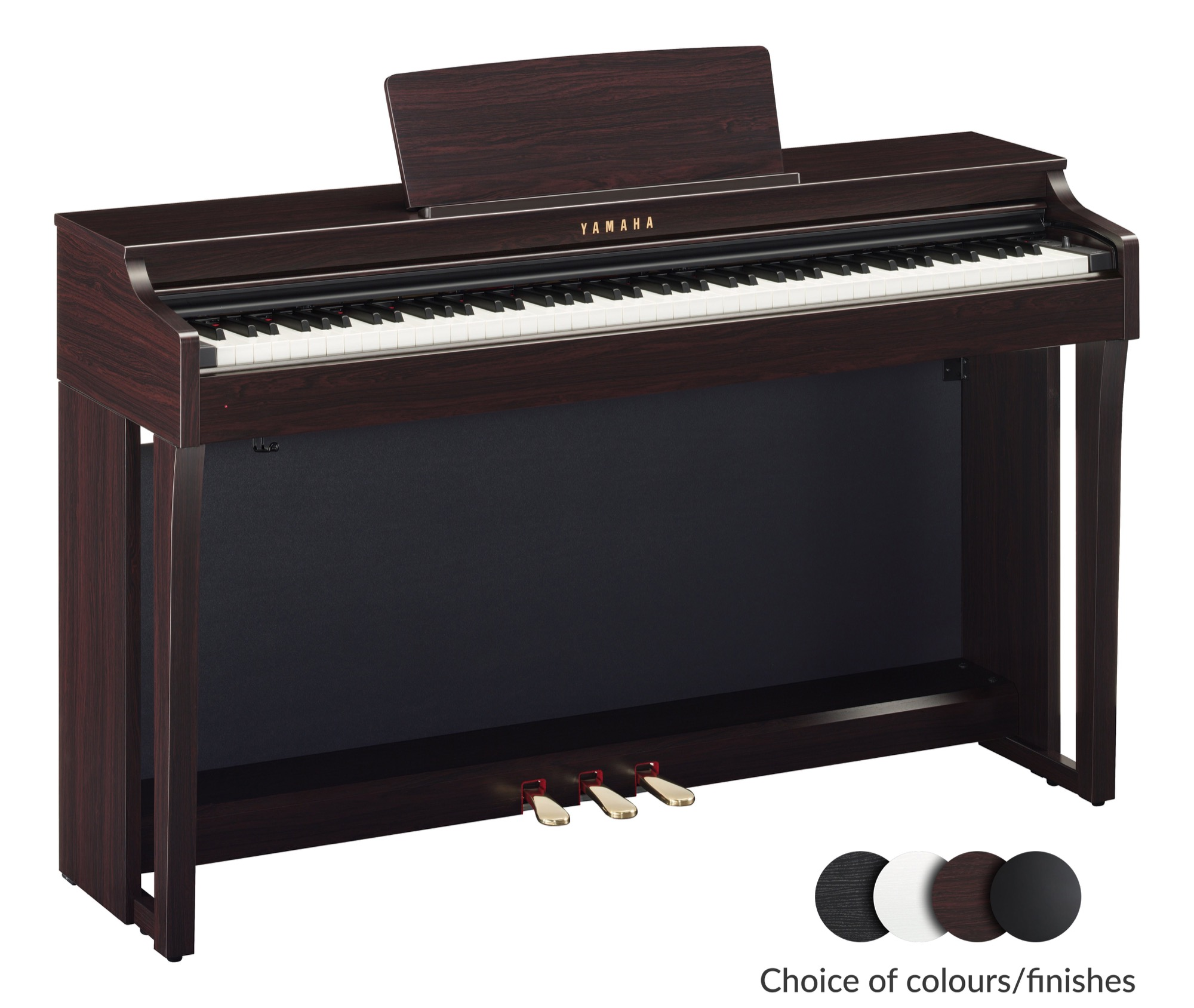 yamaha clp 625 clavinova digital piano different finishes. Black Bedroom Furniture Sets. Home Design Ideas