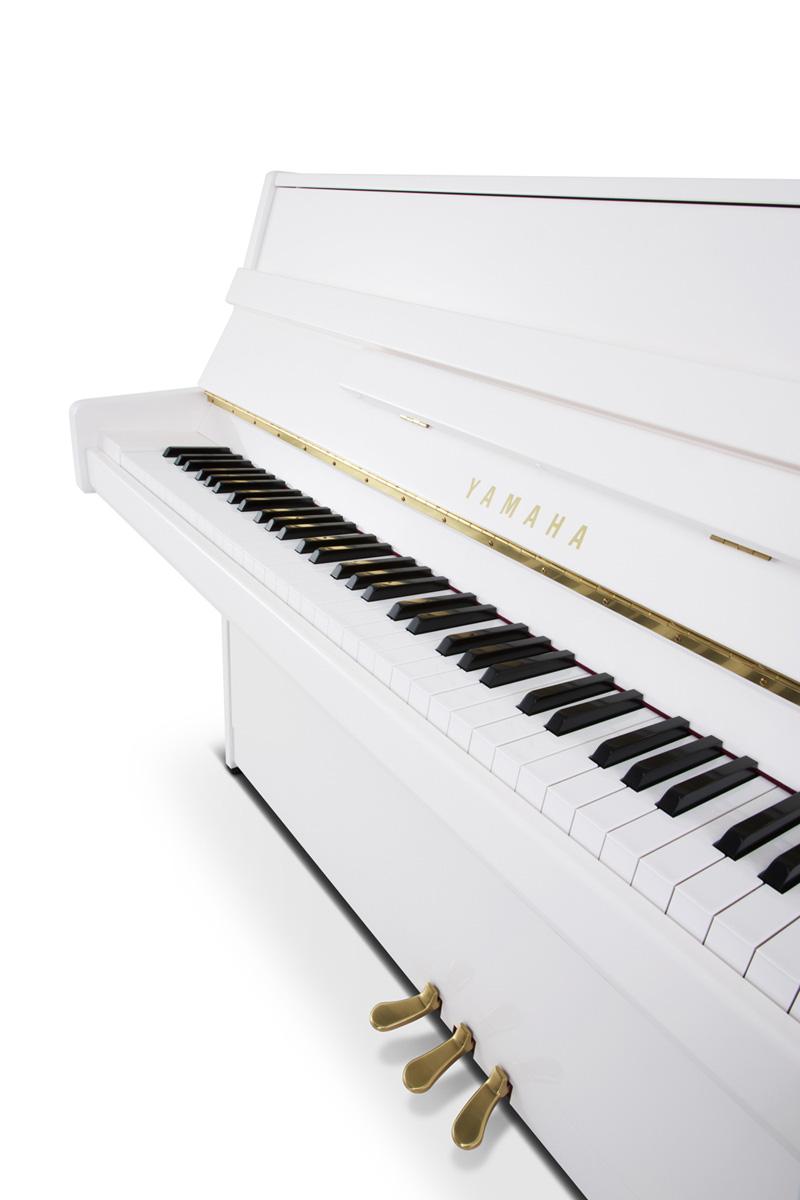 Yamaha b1 Upright Piano In Polished White finish | Yamaha ...
