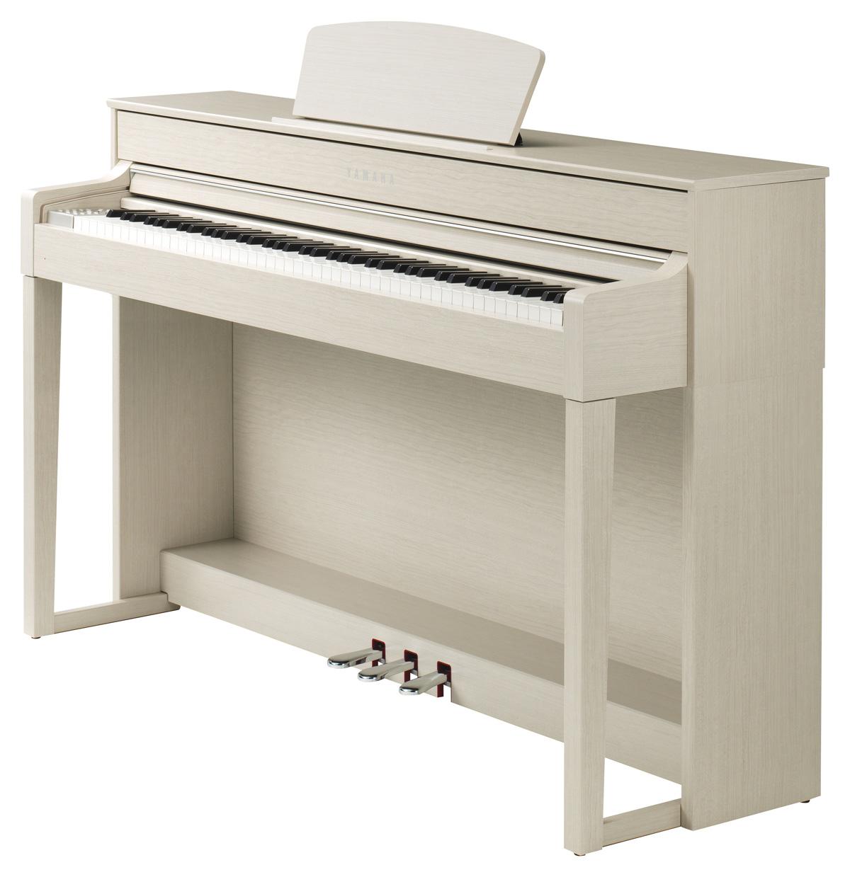 yamaha clp 535 clavinova digital piano in white ash finish yamaha music london. Black Bedroom Furniture Sets. Home Design Ideas
