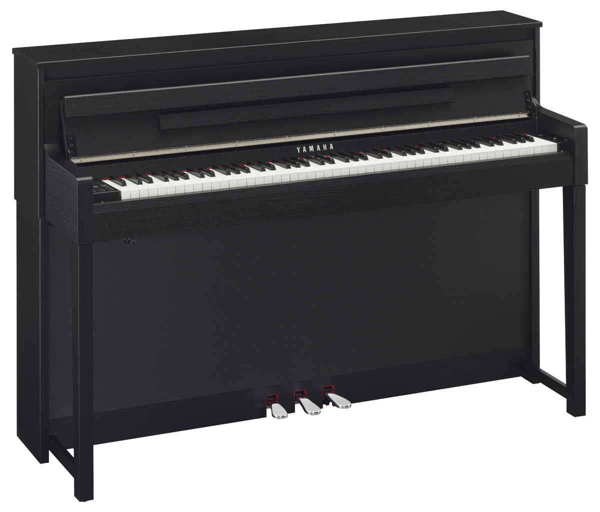 yamaha clp 585 clavinova digital piano in black walnut. Black Bedroom Furniture Sets. Home Design Ideas
