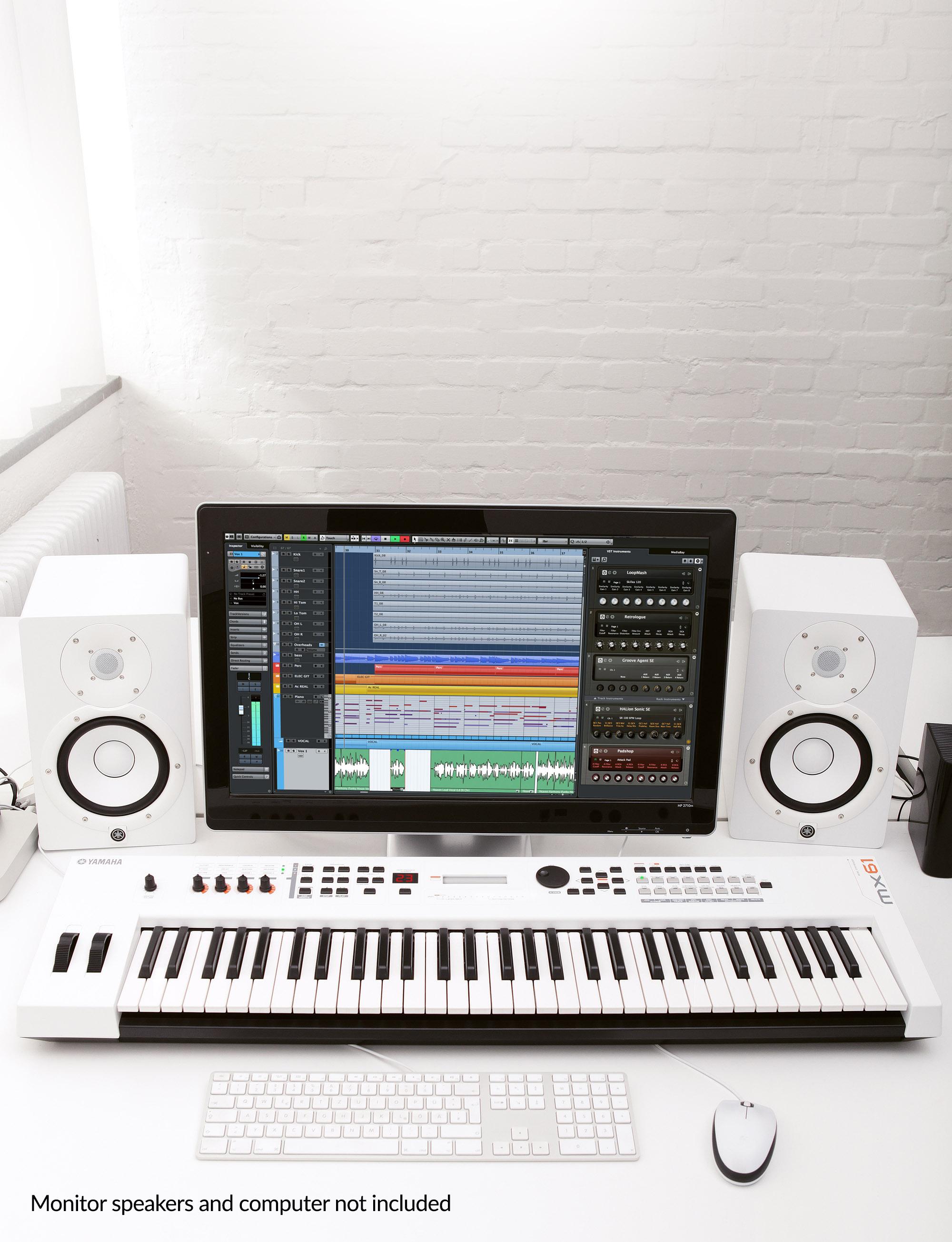 MX61 Version 2 Synthesizer 61 Key Edition, In White Finish
