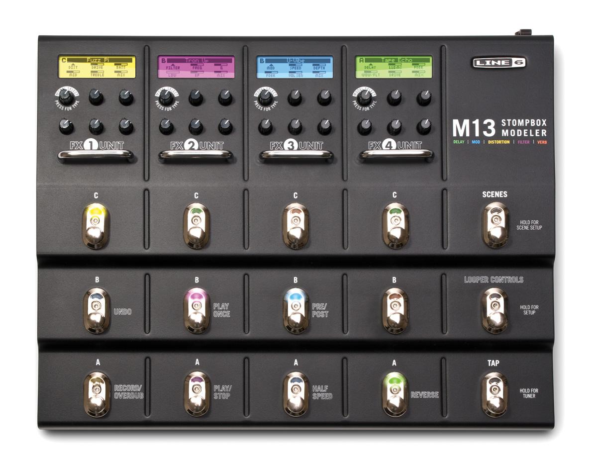 ... M13 Stompbox Modeller Guitar Multi-Effects Pedal