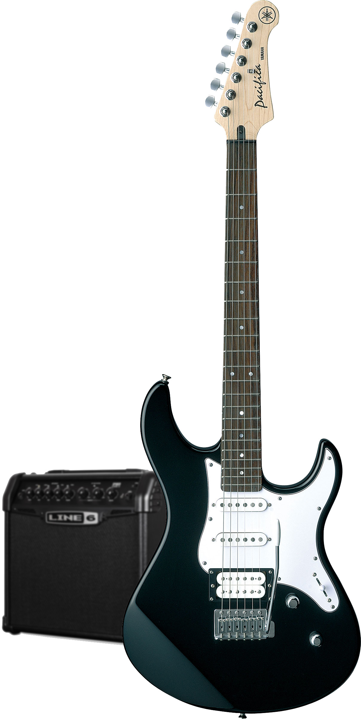 yamaha pacifica 112v electric guitar spider classic amp pack in black finish yamaha music london. Black Bedroom Furniture Sets. Home Design Ideas