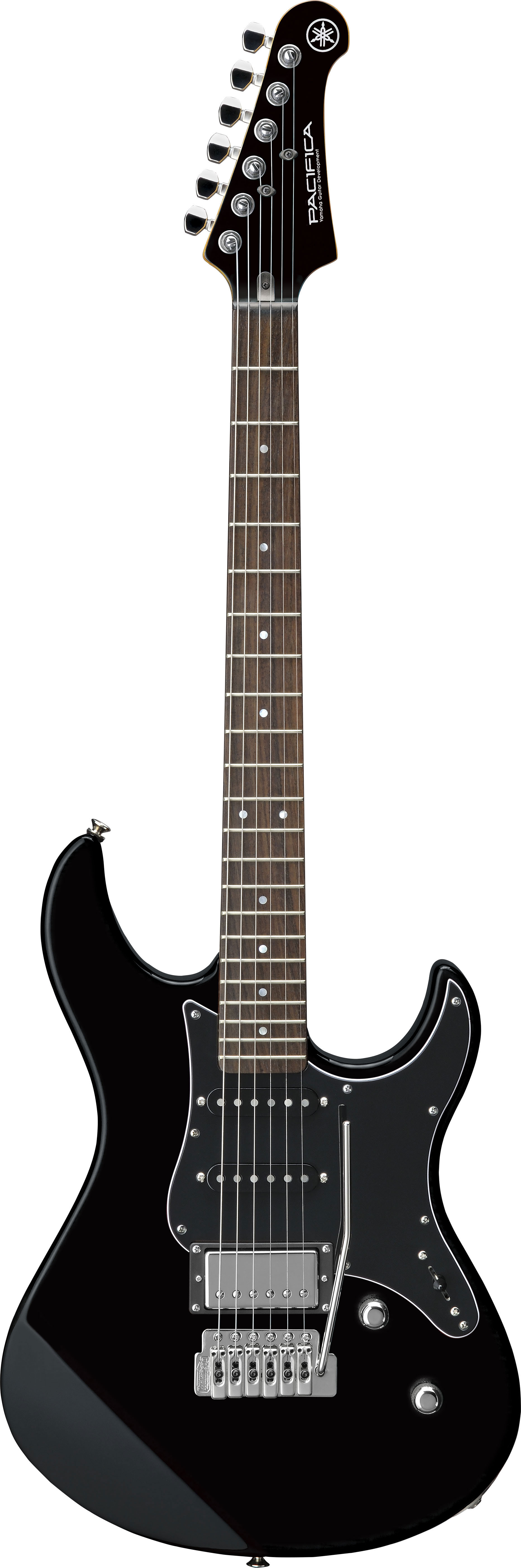 yamaha pacifica 612v mk ii electric guitar in solid black finish with black scratchplate. Black Bedroom Furniture Sets. Home Design Ideas