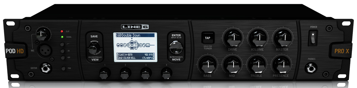 line 6 pod hd pro x rackmount effects unit the ultimate hd tone engine for your rack yamaha. Black Bedroom Furniture Sets. Home Design Ideas