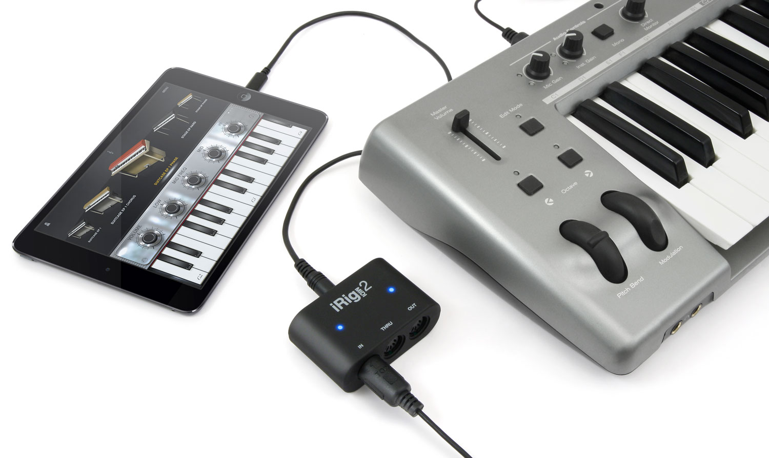 Ik Multimedia Irig Midi 2 Interface For Ios Mac And Pc Lightning Kabel Untuk Iphone Ipad Ipod To Usb Cable