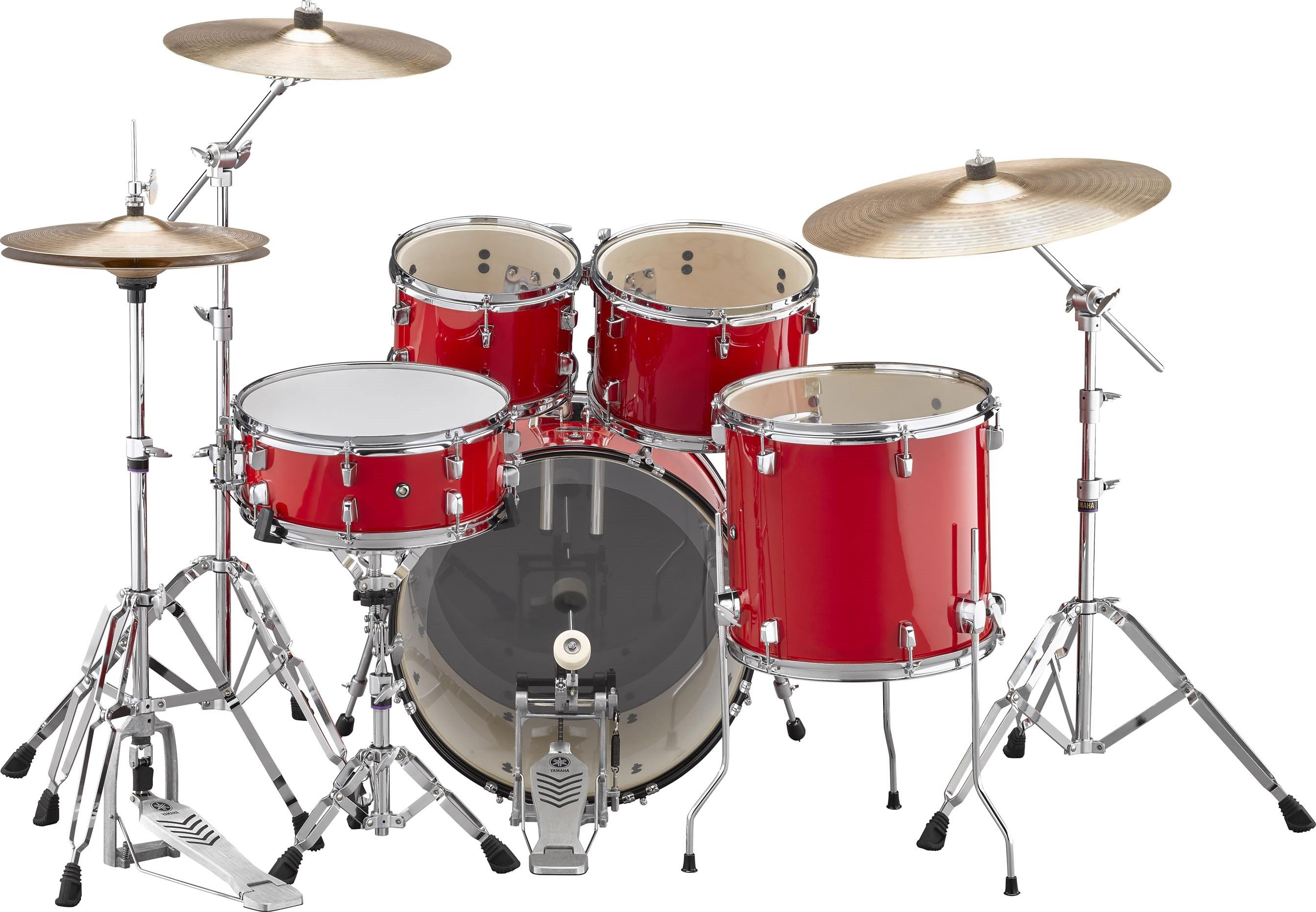 Yamaha Rydeen Drum Kit With 20 Quot Kick Drum Amp Cymbals In Hot