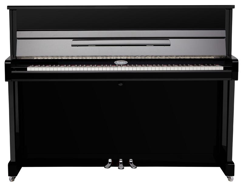 kemble k113 upright acoustic piano in polished ebony finish with chrome fixings yamaha music. Black Bedroom Furniture Sets. Home Design Ideas