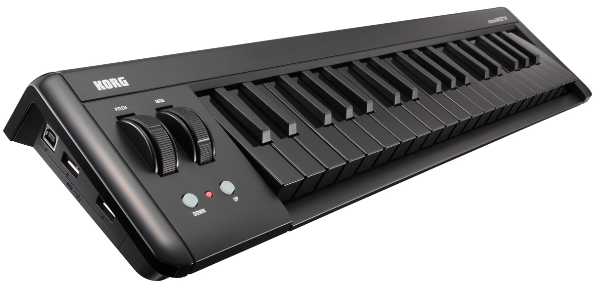 korg microkey compact usb midi controller 37 key mini midi controller keyboard black keys. Black Bedroom Furniture Sets. Home Design Ideas
