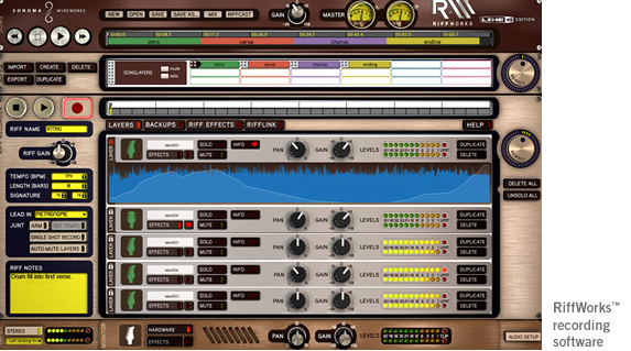Line 6 GuitarPort RiffTracker Guitar Audio Interface and Recording Software