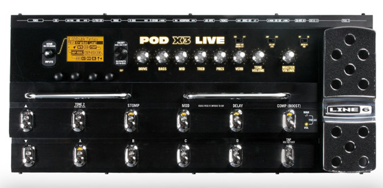 line 6 pod x3 live guitar bass amp and multi effects modelling pedal board yamaha music london. Black Bedroom Furniture Sets. Home Design Ideas