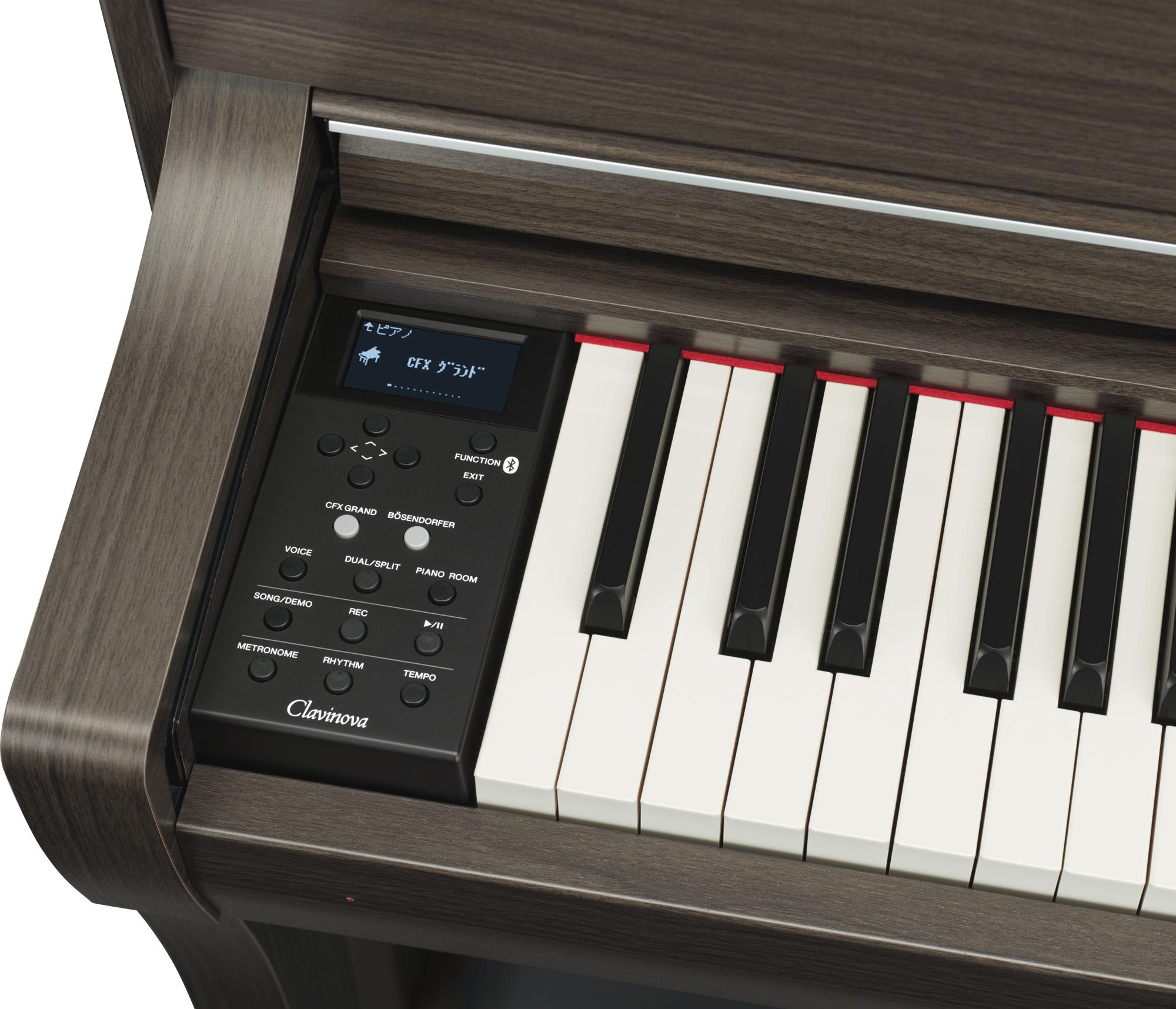 yamaha clp 675 clavinova digital piano in dark walnut finish yamaha music london. Black Bedroom Furniture Sets. Home Design Ideas