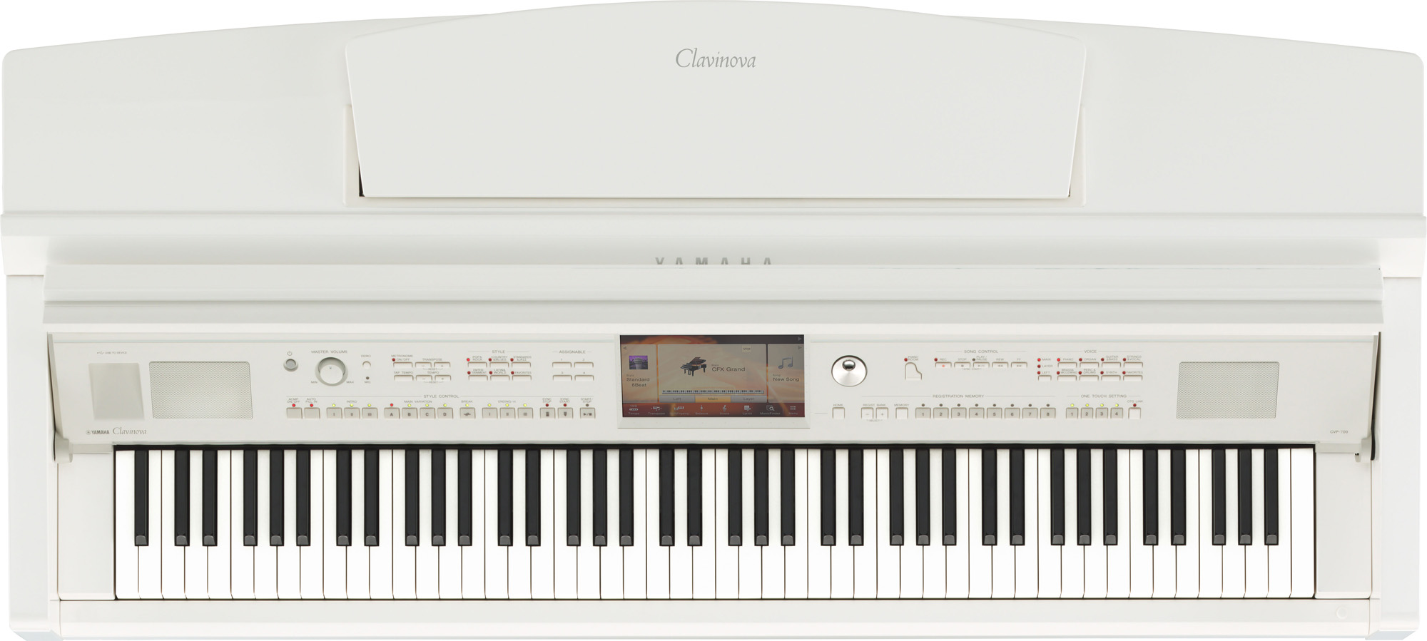 Yamaha cvp 709 clavinova digital piano in polished white for Yamaha cvp 709