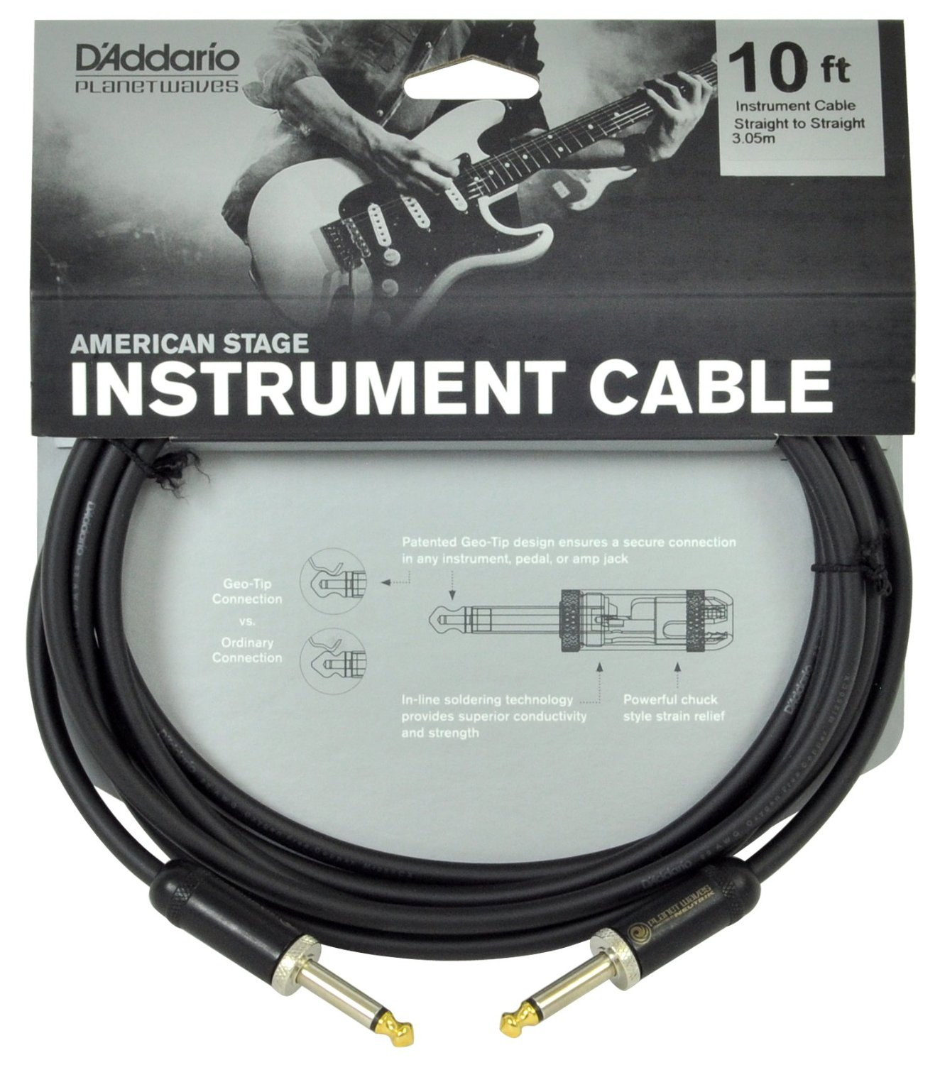 Planet Waves Instrument Cable 10 Feet Mono Jack To Guitar Wiring