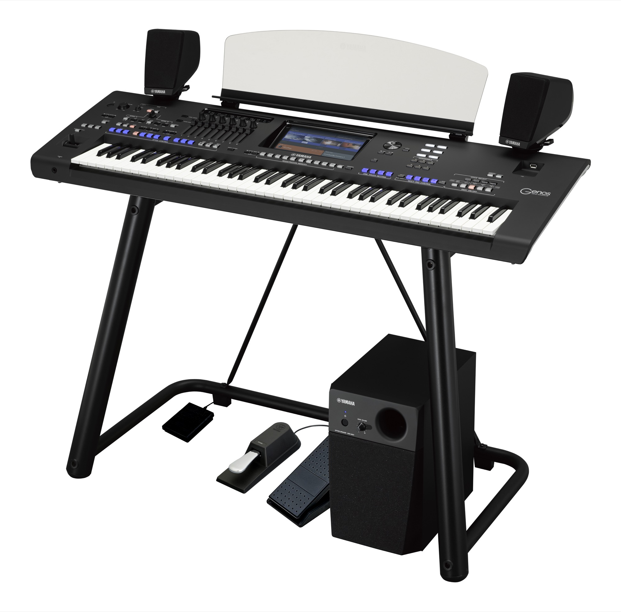Genos Workstation Ultimate Pack Including Official Stand, Speakers, Pedals  & Headphones