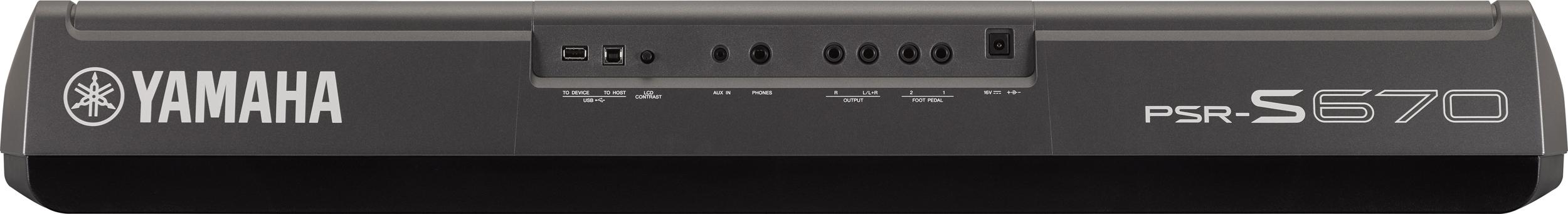 PSR-S670 Arranger Workstation Keyboard Featuring 128note Polyphony &  Megavoice Technology