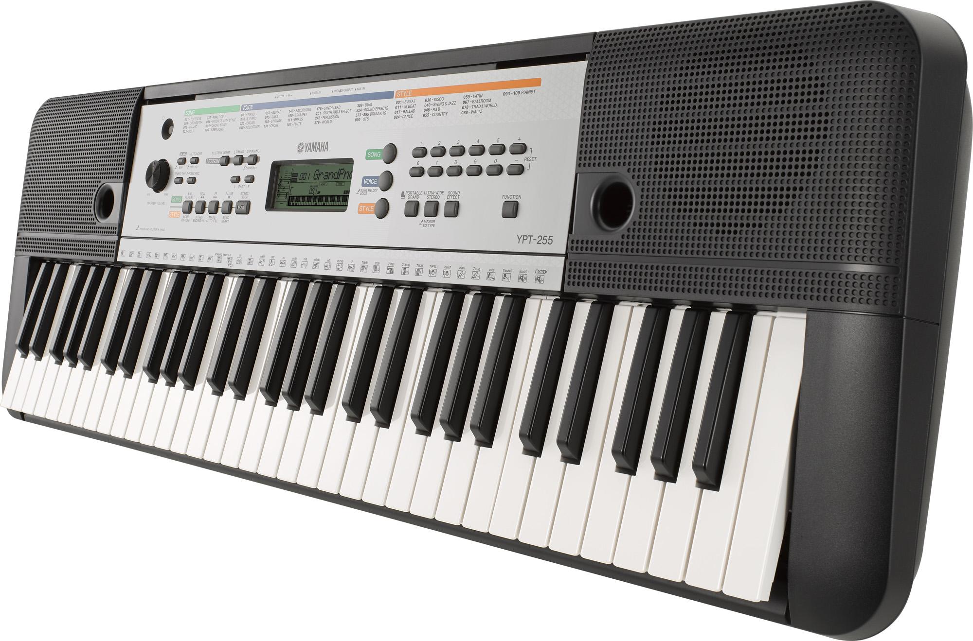 yamaha ypt 255 portable home keyboard 61 note keyboard. Black Bedroom Furniture Sets. Home Design Ideas