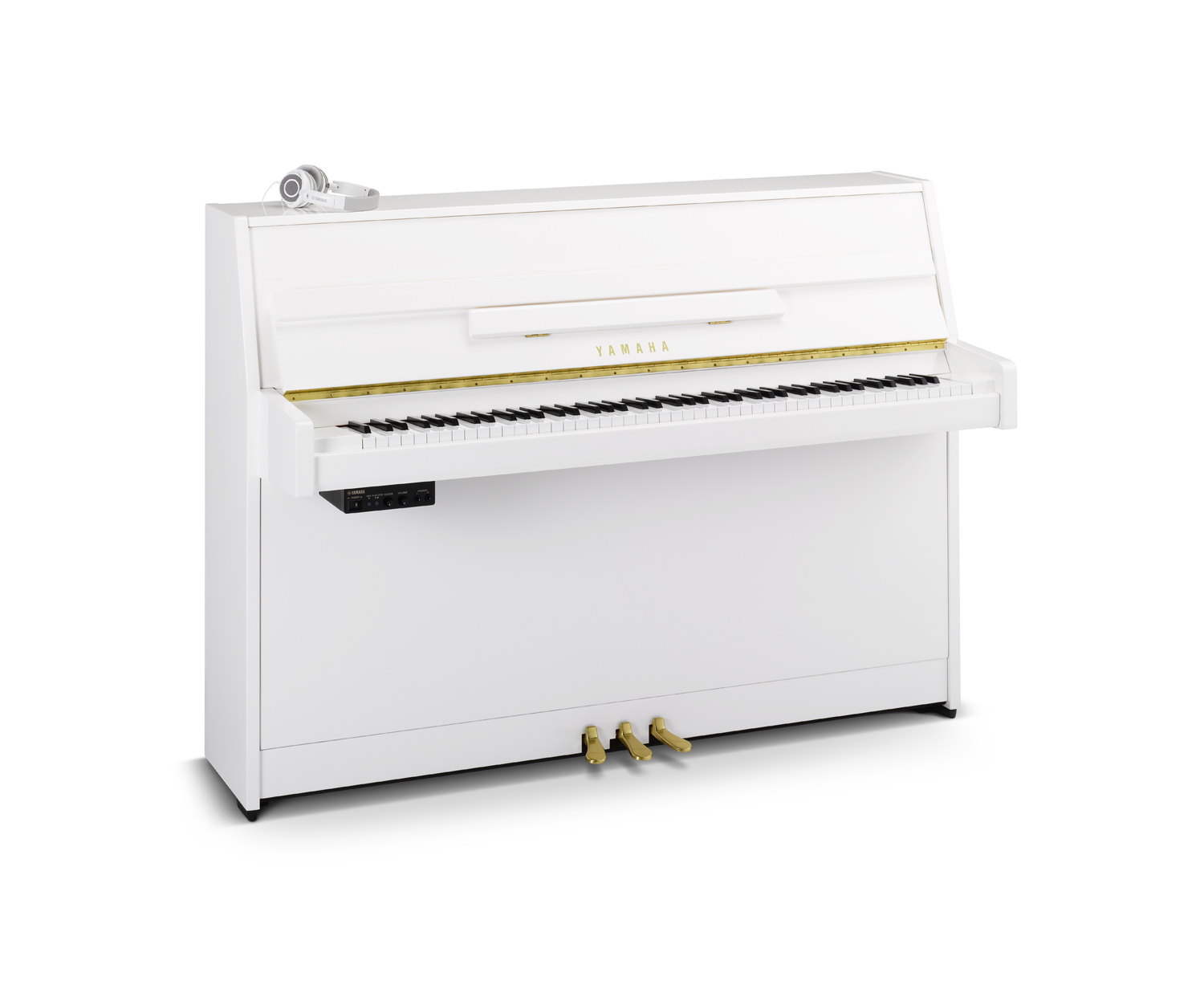 Yamaha B1 Sg2 Silent Piano In Polished White Finish With Brass Parts Diagram