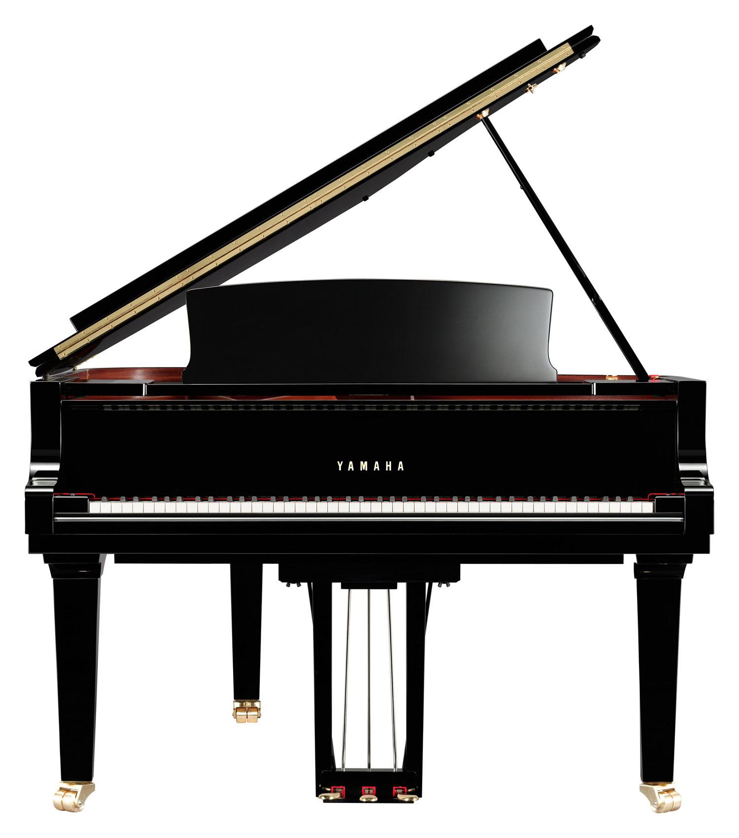 Yamaha C6X SH Silent Grand Piano in Polished Ebony Finish, with ...