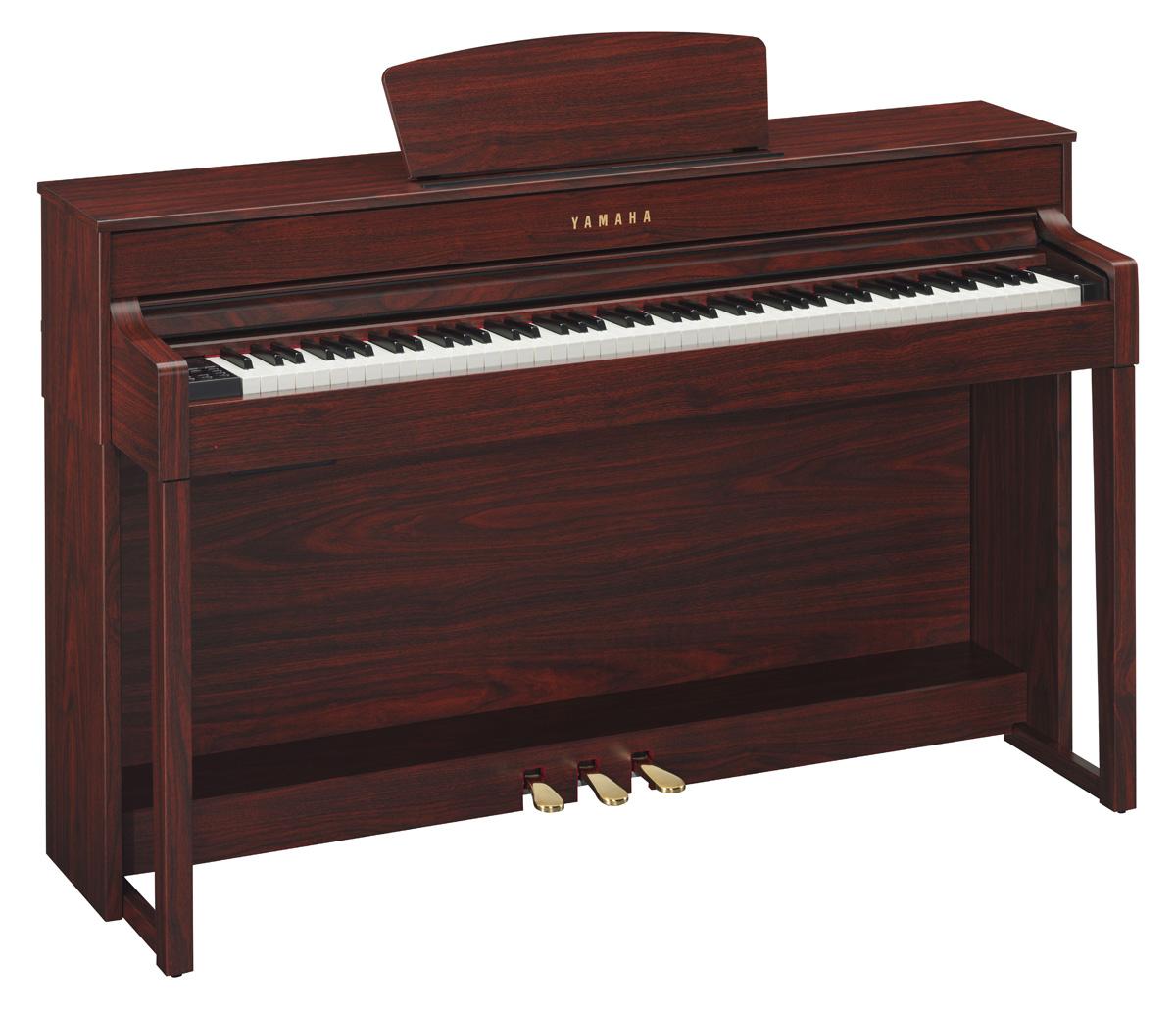 Yamaha clp 535 clavinova digital piano in mahogany finish for Yamaha digital piano clp 535