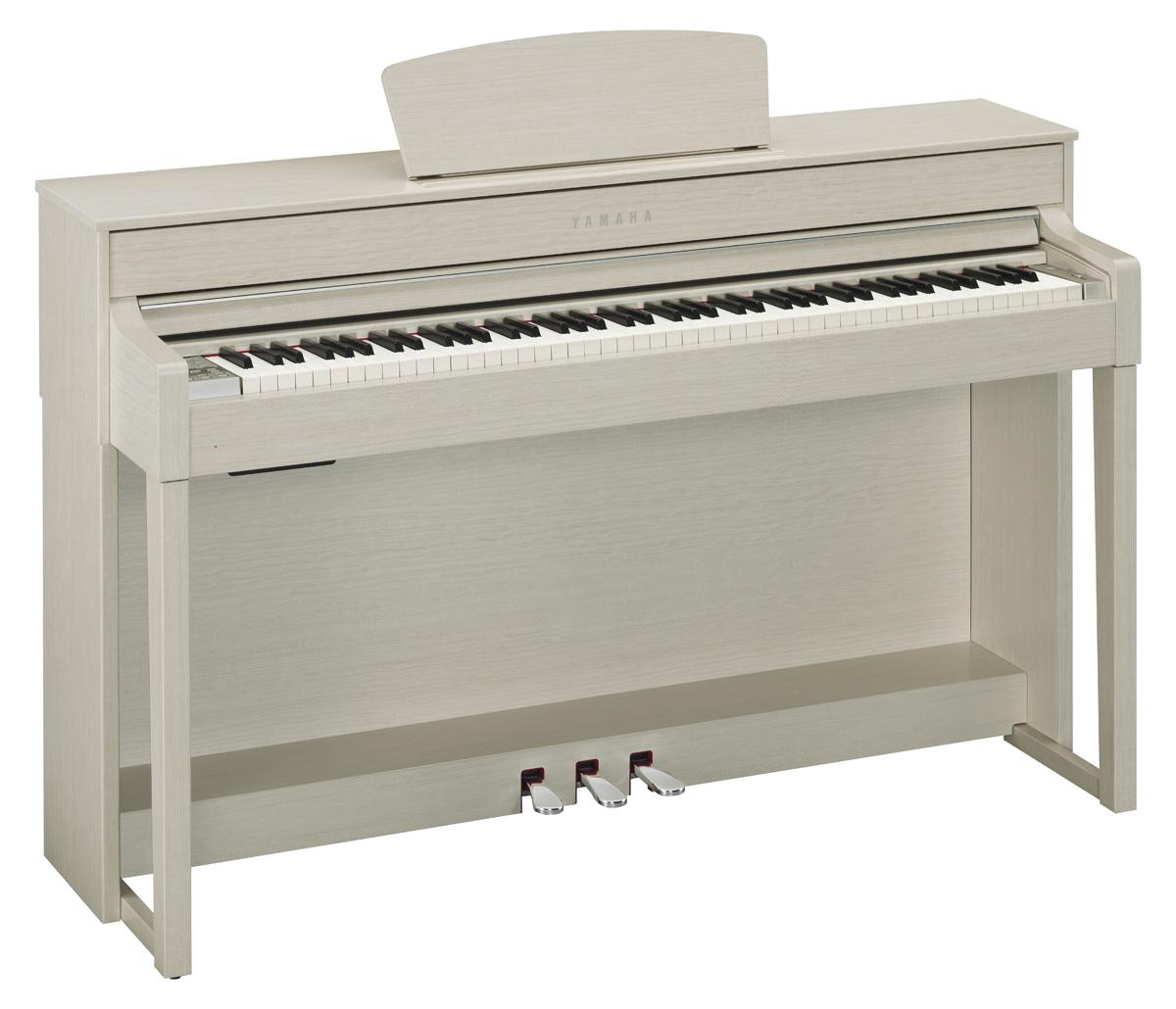 yamaha clp 535 clavinova digital piano in white ash finish. Black Bedroom Furniture Sets. Home Design Ideas