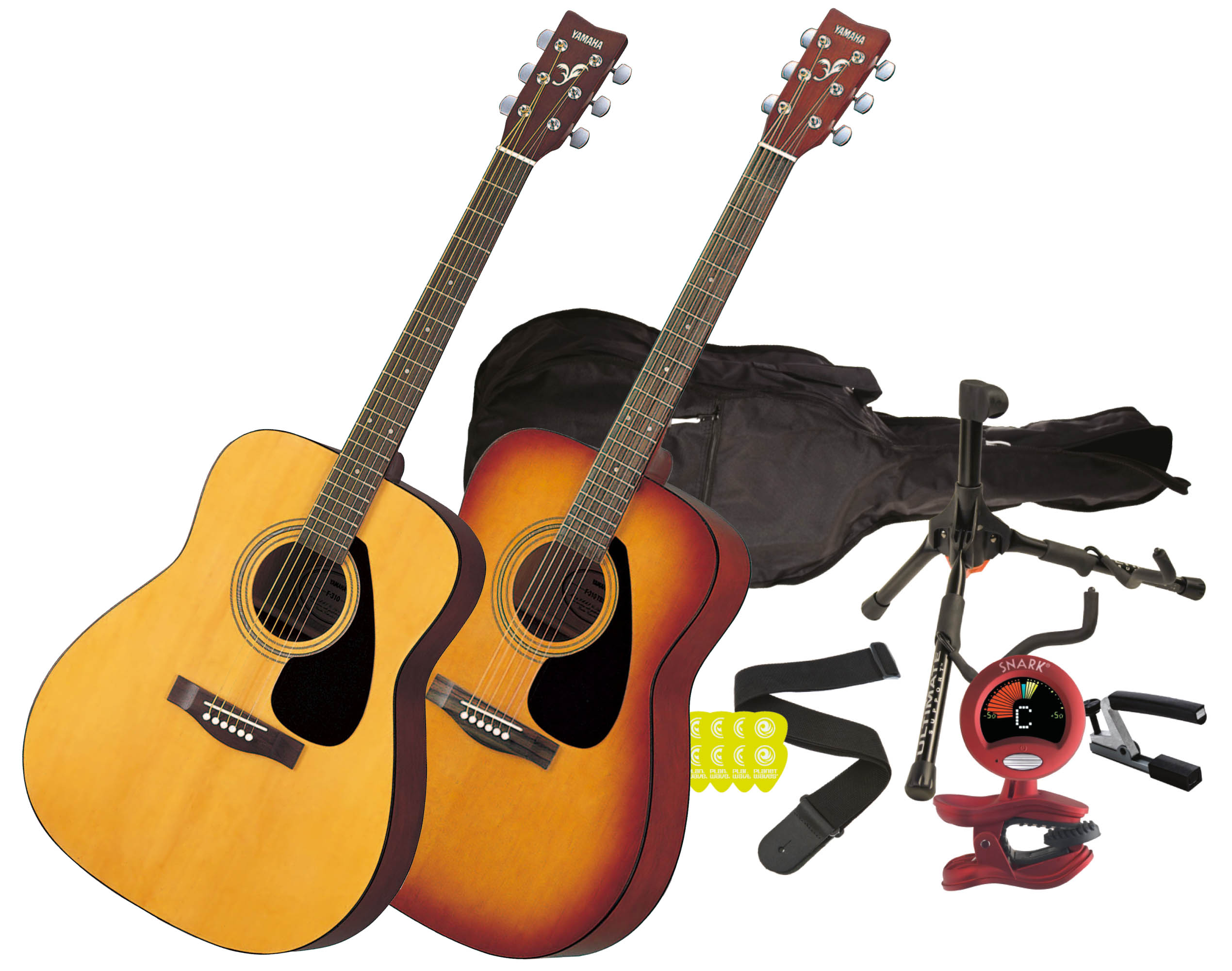 de32fcc7b82 Yamaha F310 Beginner Acoustic Guitar Package In Natural or Tobacco ...