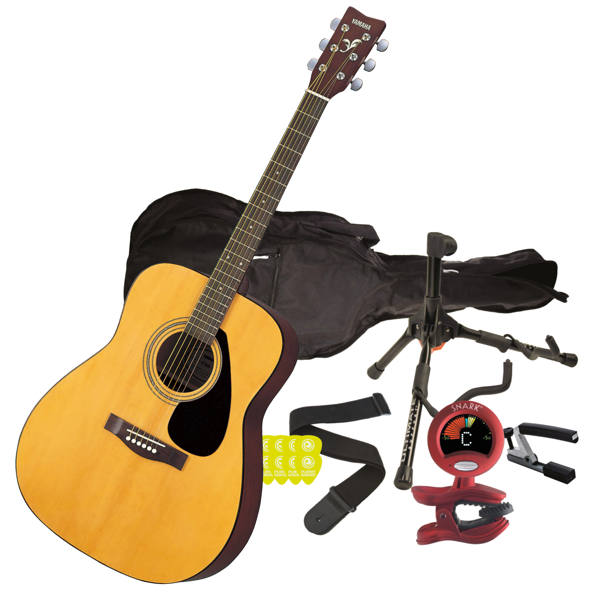 Yamaha f310 acoustic guitar beginner package in natural for Yamaha fs 310 guitar