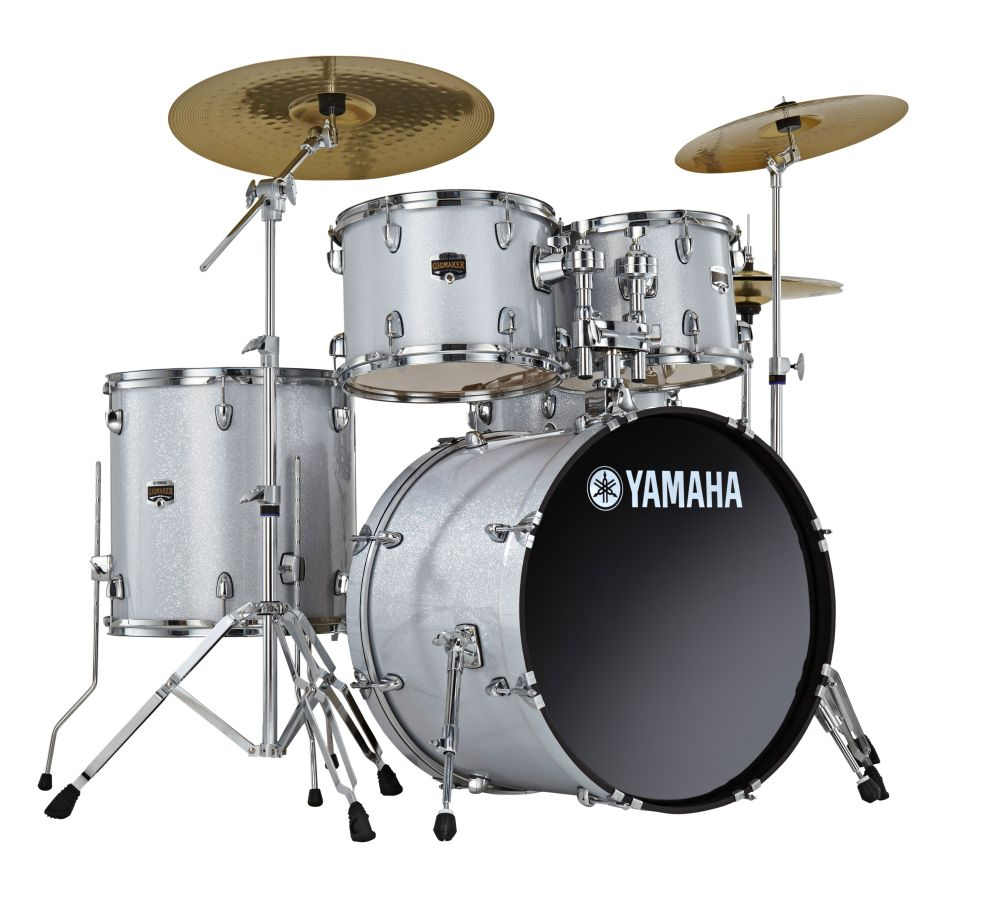 yamaha gm0f5slg gigmaker drum set inc 20 inch bass drum cymbals gigmaker series in silver. Black Bedroom Furniture Sets. Home Design Ideas